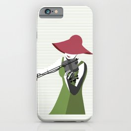 A Woman Playing Violin iPhone Case