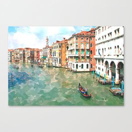 Watercolor Venice painting Canvas Print