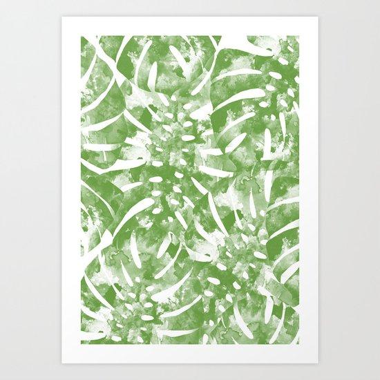 Monstera Jungle Art Print