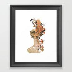 Freya's Hair (Gold) Framed Art Print