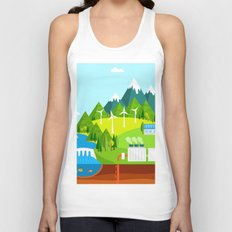 Wind Energy Unisex Tank Top