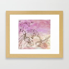 Music Notes Flutter 2 Framed Art Print