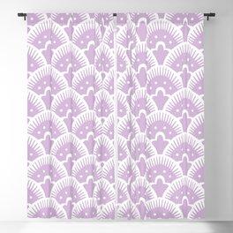 Fan Pattern 331 Lavender Blackout Curtain