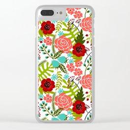 Flower Pattern II Clear iPhone Case
