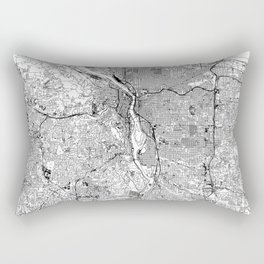 Portland White Map Rectangular Pillow