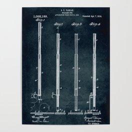 1913 - Billiard Cue Poster