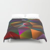triangles Duvet Covers featuring TRIANGLES by eARTh
