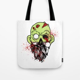 Bearded Zombie Undead with Beard Halloween Party Light Tote Bag