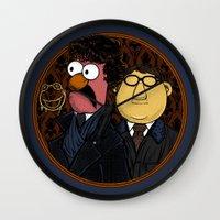 221b Wall Clocks featuring 221b Beaker Street by Onebluebird