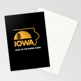 Iowa: Land of the Rising Corn - Black and Gold Edition Stationery Cards