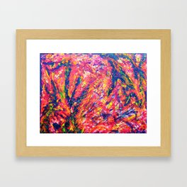 """Structure-Fire"" Framed Art Print"
