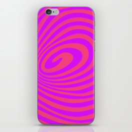 casual spiral iPhone Skin