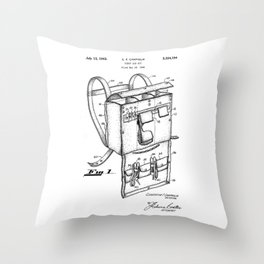patent art Campiglia First Aid kit 1942 Throw Pillow