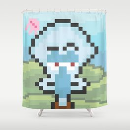Squidward Pixels Shower Curtain