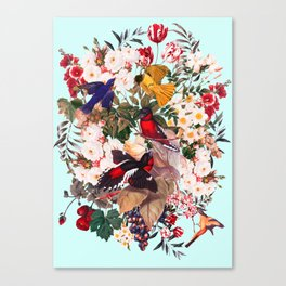 Floral and Birds XXXI Canvas Print