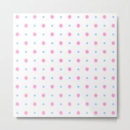 stars 103- blue and pink Metal Print