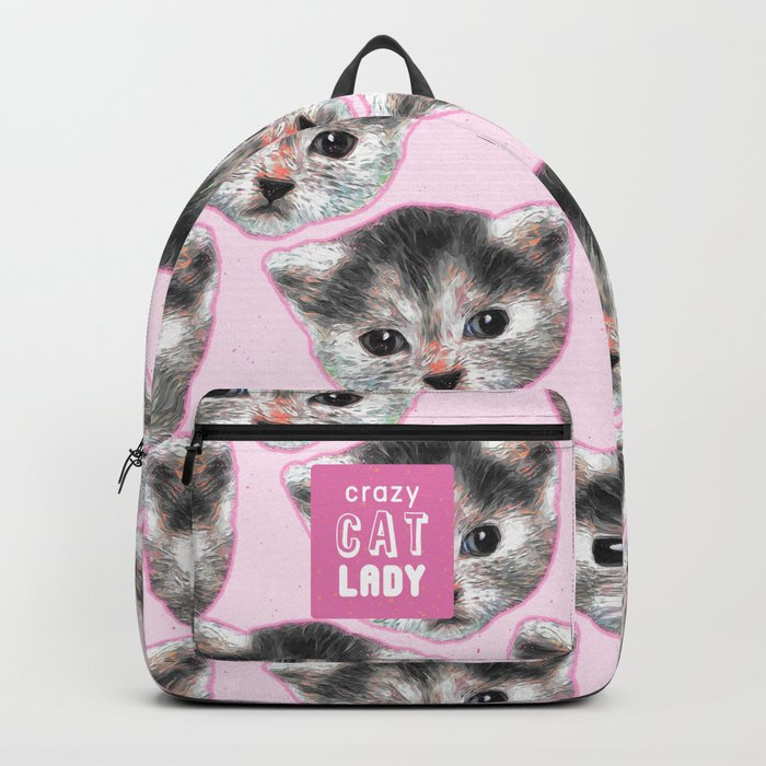 Crazy Cat Lady Rucksack