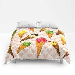 Ice cream hearts-Rosa Comforters