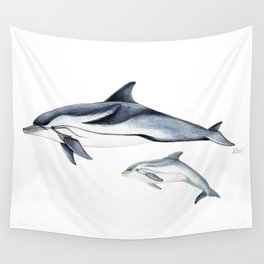 Striped dolphin Wall Tapestry