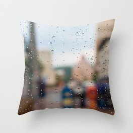After the Rain in Asheville Throw Pillow