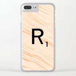 Scrabble Letter R - Large Scrabble Tiles Clear iPhone Case