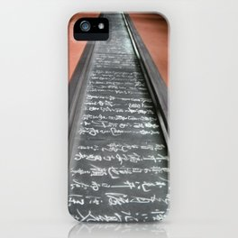 Wall of Wisdom iPhone Case