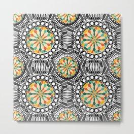Beveled geometric pattern Metal Print