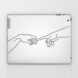 Hands showing the creation of Adam Laptop & iPad Skin