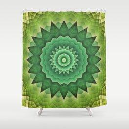 Mandala Green Life Shower Curtain