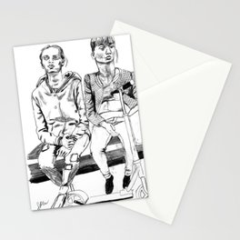 Mother and Daughter on the Moscow Underground Stationery Cards