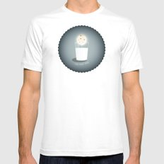 Full cookie rising MEDIUM White Mens Fitted Tee