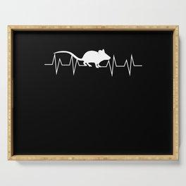Rat EKG Heartbeat Pulse Gift Serving Tray