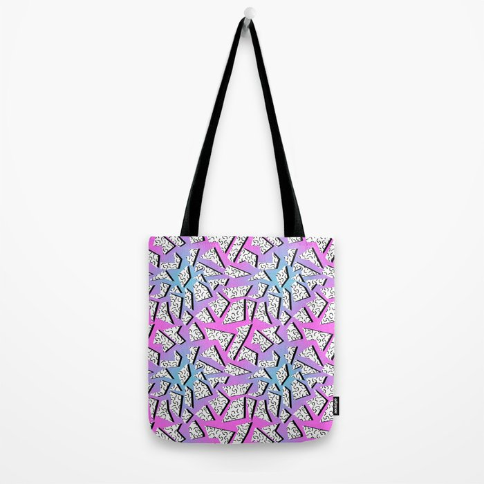 Gnarly - retro memphis throwback pattern print 1980s 80's style minimal modern pop art neon hipster Tote Bag
