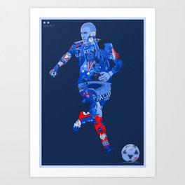 EQUIPE DE FRANCE DE FOOTBALL Art Print