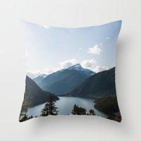 diablo Throw Pillows featuring Diablo Lake. by Eric-Bird