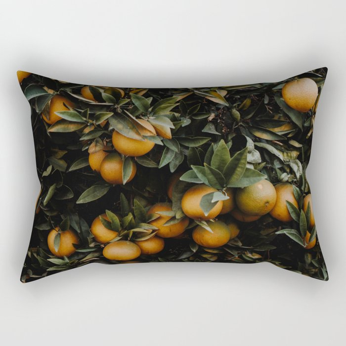 Wild Oranges Rectangular Pillow