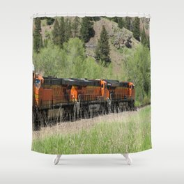 Three In A Row For Heavy Hauling Shower Curtain