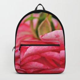 Fallen Pink Rose flower Backpack