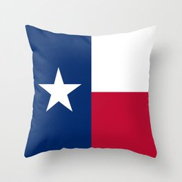 Texas state flag, High Quality Authentic Version Throw Pillow