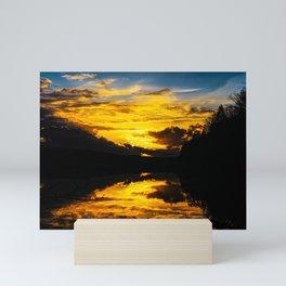Sundown At Lake Heve 6 Mini Art Print