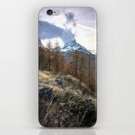 Autumn by the Matterhorn iPhone Skin