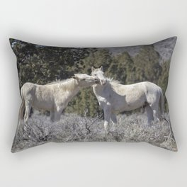 Wild Horses with Playful Spirits No 2 Rectangular Pillow