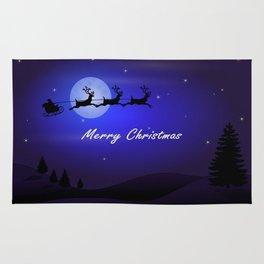 Reindeer pulling Santa's Sleigh Rug