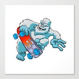 Skater yeti Canvas Print