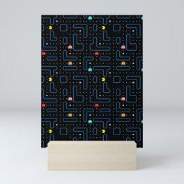 Pac-Man Retro Arcade Video Game Pattern Design Mini Art Print