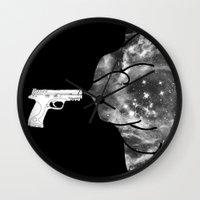 big bang Wall Clocks featuring Big Bang by Beyond Infinite