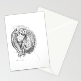 Squirrel Monkey Drawing Stationery Cards