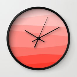 Diagonal Living Coral Gradient Wall Clock