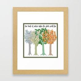 Four Season Trees Framed Art Print
