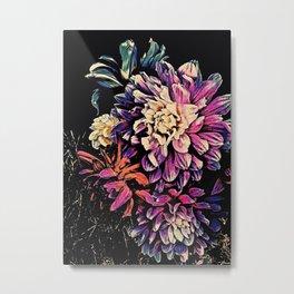 Autumn Dahlia Floral Bouquet Metal Print